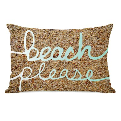 Beach Please Sand Throw Pillow