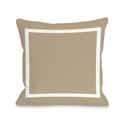 Samantha Simple Throw Pillow Size: 16 H x 16 W, Color: Tan