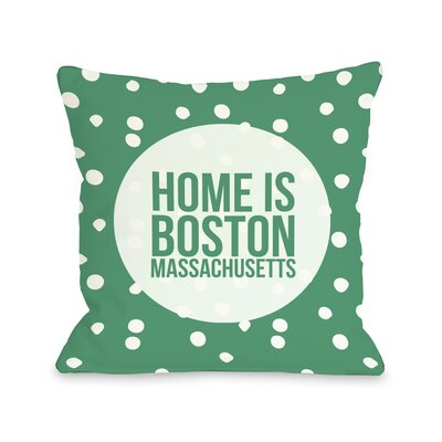 Home is Boston Dots Throw Pillow
