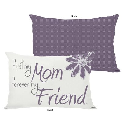 First Mom Forever Friend Lumbar Pillow