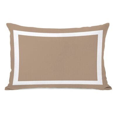 Samantha Simple Lumbar Pillow Color: Tan