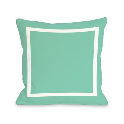 Samantha Simple Throw Pillow Size: 26 H x 26 W, Color: Turquoise