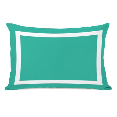 Samantha Simple Lumbar Pillow Color: Turquoise