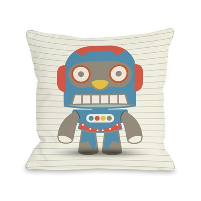 Stanleys Robot Throw Pillow Size: 18 H x 18 W