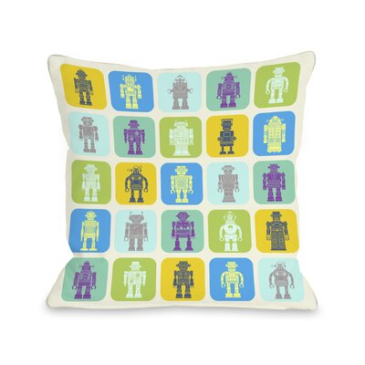 Timmys Robot Throw Pillow Size: 18 H x 18 W