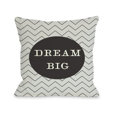 Dream Skinny Chevron Throw Pillow Size: 16 H x 16 W