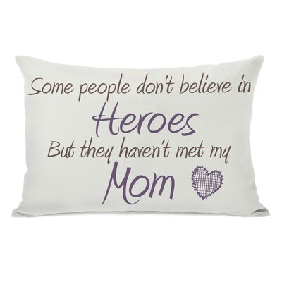 Heroes Mom Lumbar Pillow