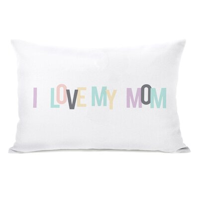 I love My Mom Hearts Lumbar Pillow