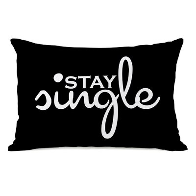 Stay Single Lumbar Throw Pillow