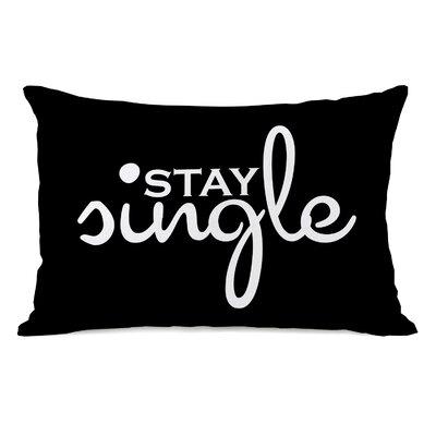 Stay Single Lumbar Throw Pillow