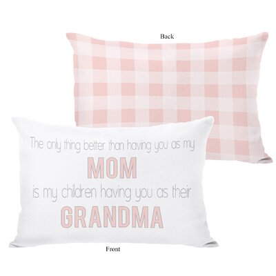 Mom Grandma Lumbar Pillow
