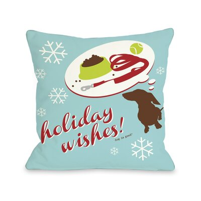 Doggy D�cor Holiday Wishes Dog Throw Pillow