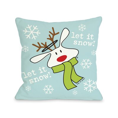 Doggy D�cor Let it Snow Dog Throw Pillow