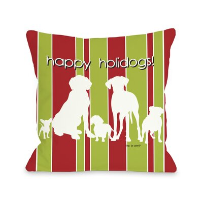 Doggy D�cor Happy Holidogs Throw Pillow