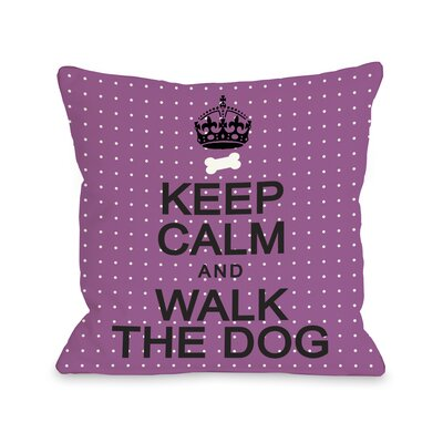 Doggy D�cor Keep Calm and Walk The Dog Mini Dots Throw Pillow