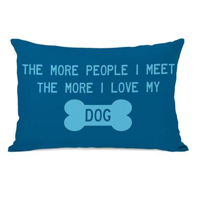 The More People I Meet Fleece Lumbar Pillow