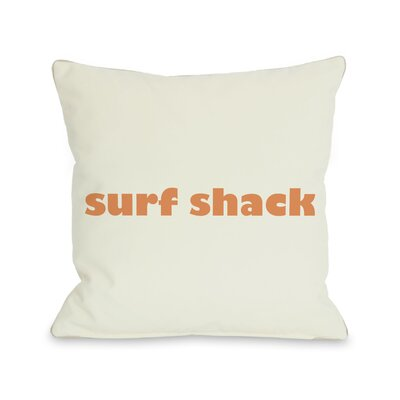 Surfs Shack Throw Pillow Size: 16 H x 16 W