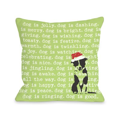 Doggy D�cor Dogisms Holiday Throw Pillow