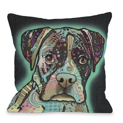 Doggy D�cor Love Thy Boxer Throw Pillow Size: 18 H x 18 W