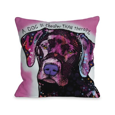 Doggy D�cor Lab Throw Pillow Size: 16 H x 16 W
