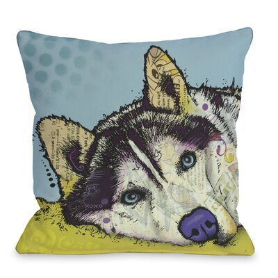 Doggy D�cor Siberian Husky Throw Pillow Size: 18 x 18
