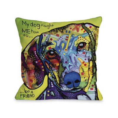 Doggy D�cor Dachshund Throw Pillow Size: 18 H x 18 W