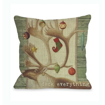 Deck Everything Antlers Throw Pillow
