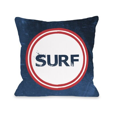 Surf Throw Pillow Size: 16 H x 16 W