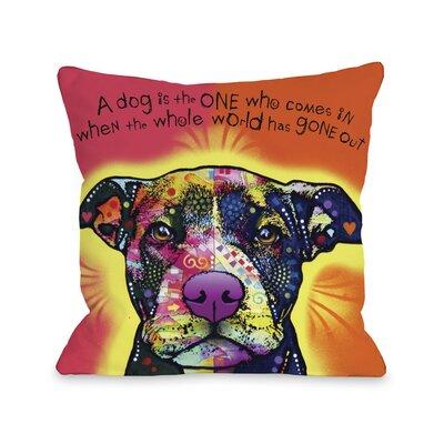Love a Bull with Text Fleece Throw Pillow