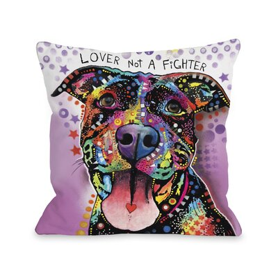 Doggy D�cor Ms. Understood with Text Throw Pillow Size: 18 H x 18 W