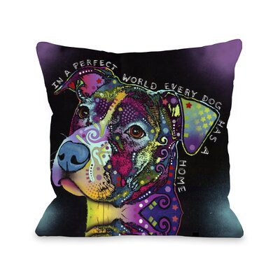 Doggy D�cor In A Perfect World Throw Pillow Size: 18 H x 18 W