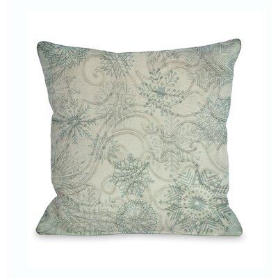 Icy Snowflakes Throw Pillow