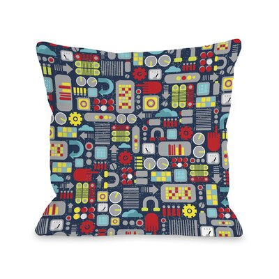 Sams Laboratory Throw Pillow Size: 18 H x 18 W
