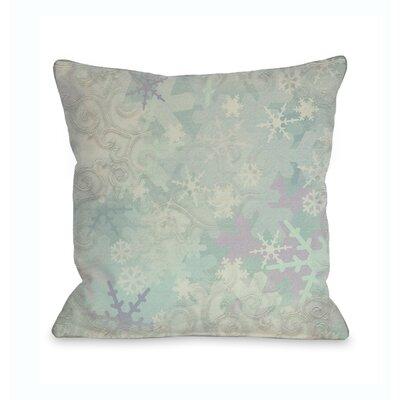 Let it Snow Icy Snowflakes Throw Pillow