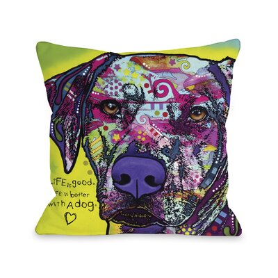 Doggy D�cor Rhodesian Ridgeback Throw Pillow Size: 18 H x 18 W