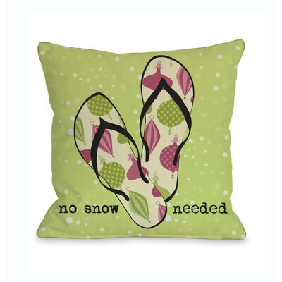 No Snow Needed Sandals Throw Pillow