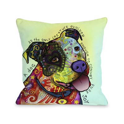 Doggy D�cor Pure Joy Throw Pillow Size: 16 H x 16 W