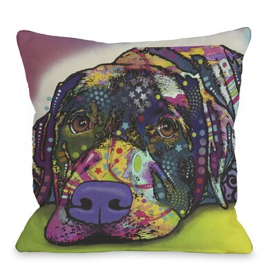 Doggy D�cor Savvy Labrador Throw Pillow Size: 18 x 18