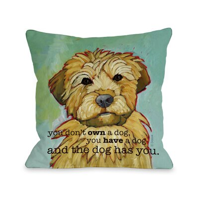 Doggy D�cor Dog Has You Throw Pillow