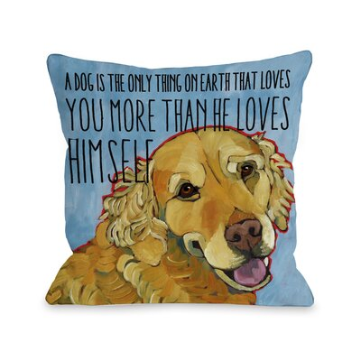 Doggy D�cor More Than He Loves Himself Throw Pillow