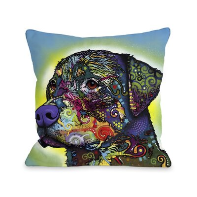 Doggy D�cor The Rottweiler Throw Pillow