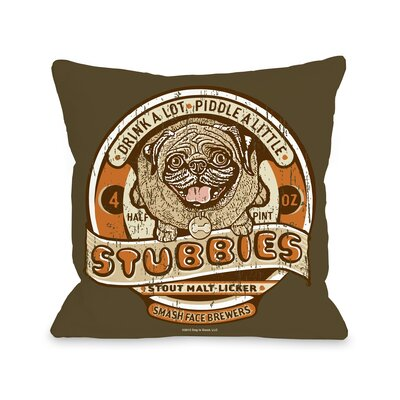 Doggy D�cor Stubbies Throw Pillow Size: 18 H x 18 W