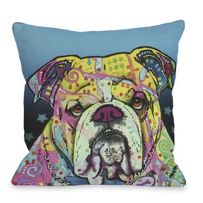 Doggy D�cor The Bulldog Throw Pillow Size: 16 H x 16 W