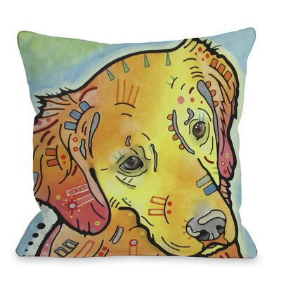 Doggy D�cor The Goldenish Retriever Throw Pillow