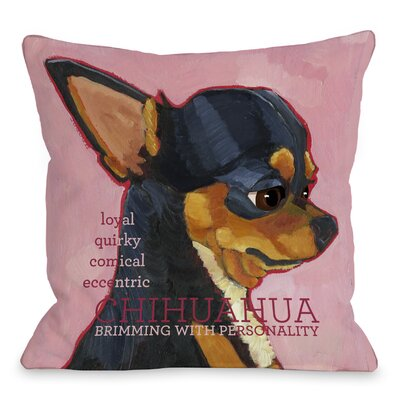 Doggy D�cor Chihuahua Throw Pillow Size: 18 H x 18 W