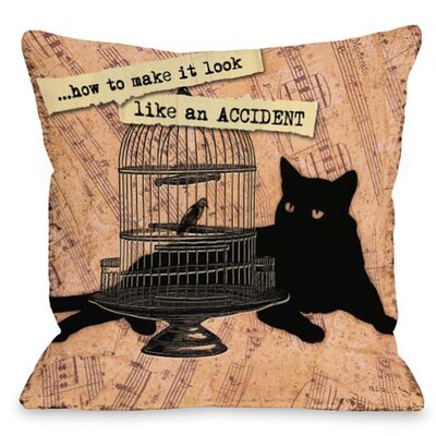 Doggy D�cor Look Like an Accident Throw Pillow Size: 16 H x 16 W