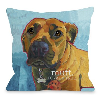Doggy D�cor Mutt Throw Pillow Size: 26 H x 26 W