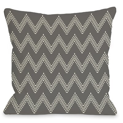 Athena Tier Throw Pillow Color: Charcoal Cream