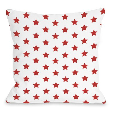 All Over Stars Throw Pillow Size: 16 H x 16 W, Color: Red