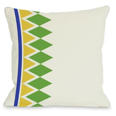 Asymmetrical Diamonds Throw Pillow Color: Green